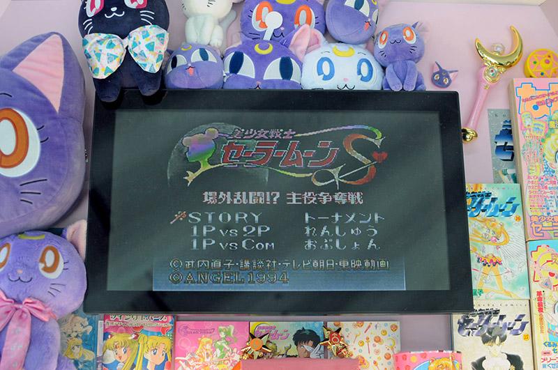 六本木ヒルズ・森タワースカイギャラリーセーラームーン展_セーラームーンの格闘ゲーム