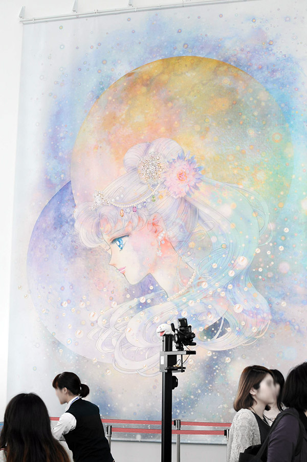 六本木ヒルズ・森タワースカイギャラリーセーラームーン展_描きおろしのプリンセスセレニティー