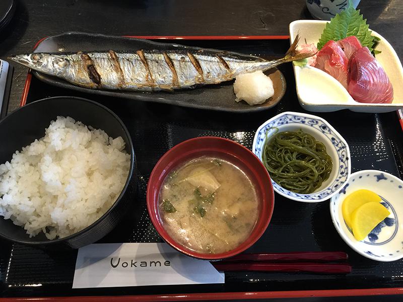 uokame_日替わり定食のサンマの塩焼きランチ