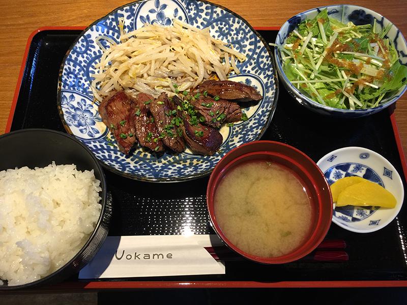 築地uokameの名物ランチ_ハラミ定食